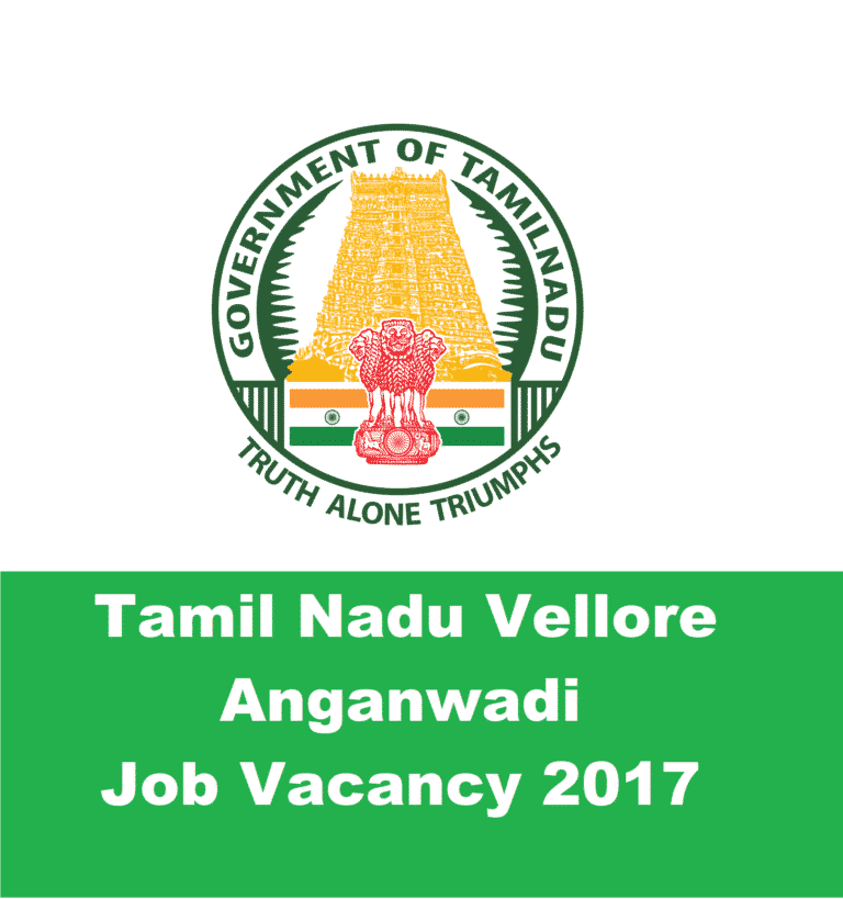 ICDS Vellore Recruitment 2017, Apply Online 2516 Various Posts