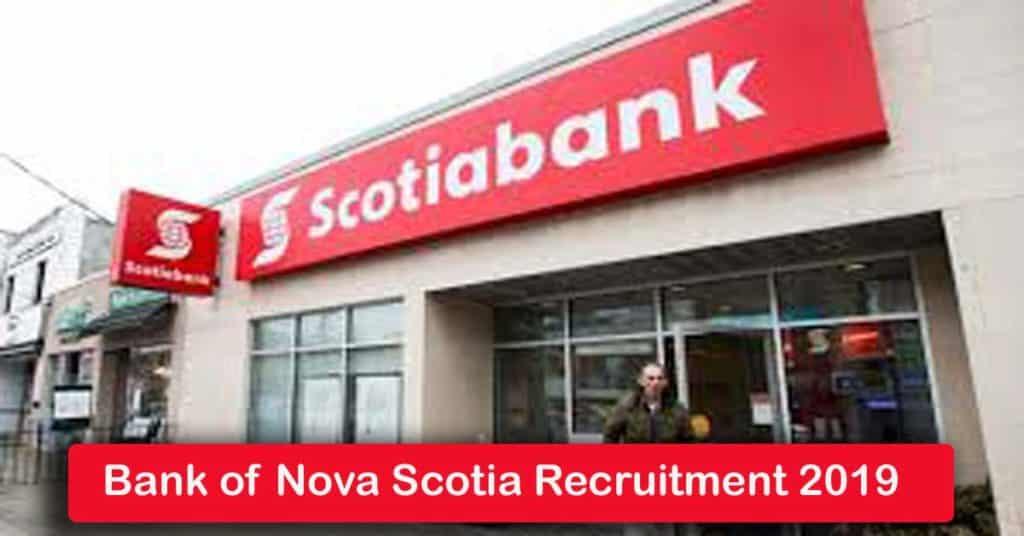 Bank of Nova Scotia Recruitment 2020
