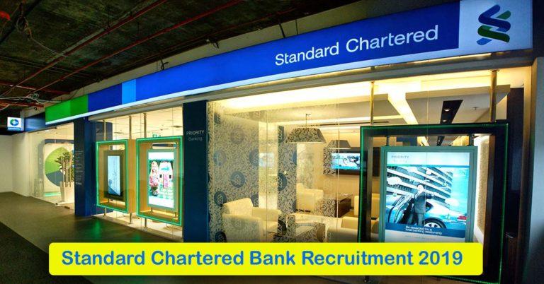 Standard Chartered Bank Recruitment 2021 – Apply Online Fresher job Openings