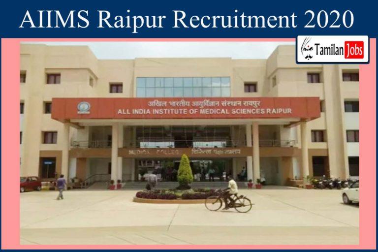 AIIMS Raipur Recruitment 2020 Out – Apply Junior Resident Jobs