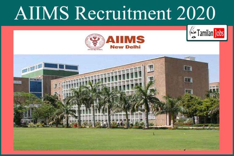 AIIMS Recruitment 2020 Out – Apply 168 Demonstrator, Senior Resident Jobs