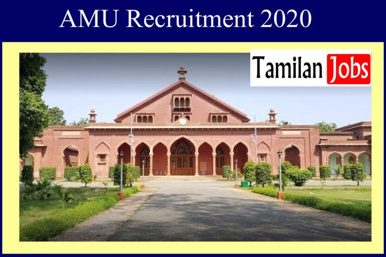 AMU Recruitment 2020 Out – Assistant Professor Jobs