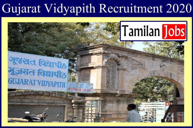 Gujarat Vidyapith Recruitment 2020 Out – Apply For Assistant Professor Jobs