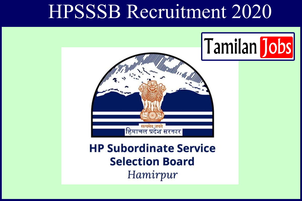 HPSSSB recruitment 2020