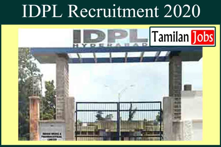 IDPL Recruitment 2020 Out – Apply Lab Executive Jobs