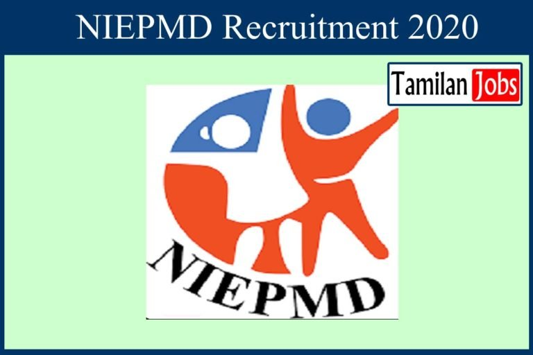 NIEPMD Recruitment 2020 Out – Apply Assistant Professor, Demonstrator Jobs