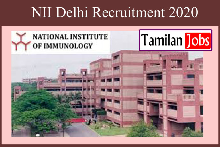 NII Recruitment 2020 Out – Apply For Emeritus Scientist Jobs
