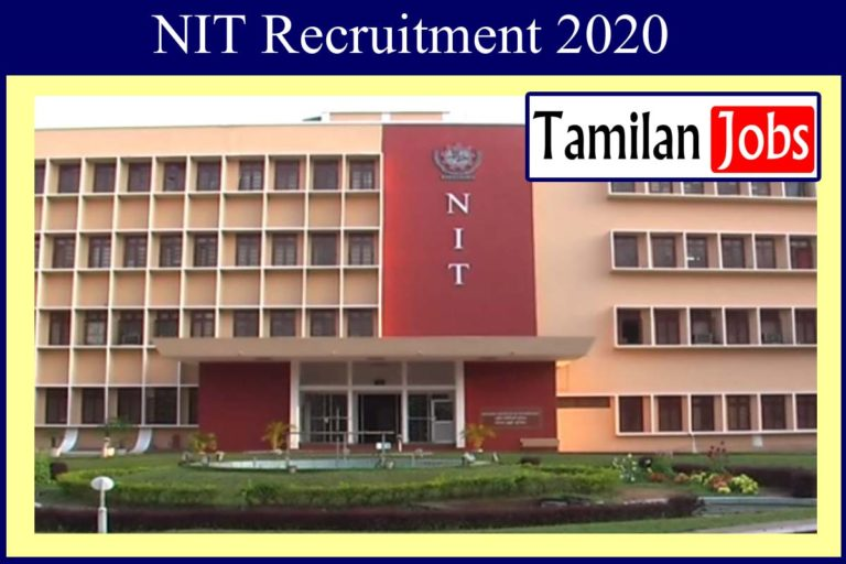NIT Recruitment 2020 Out – Apply Online 61 Lab Technician Jobs