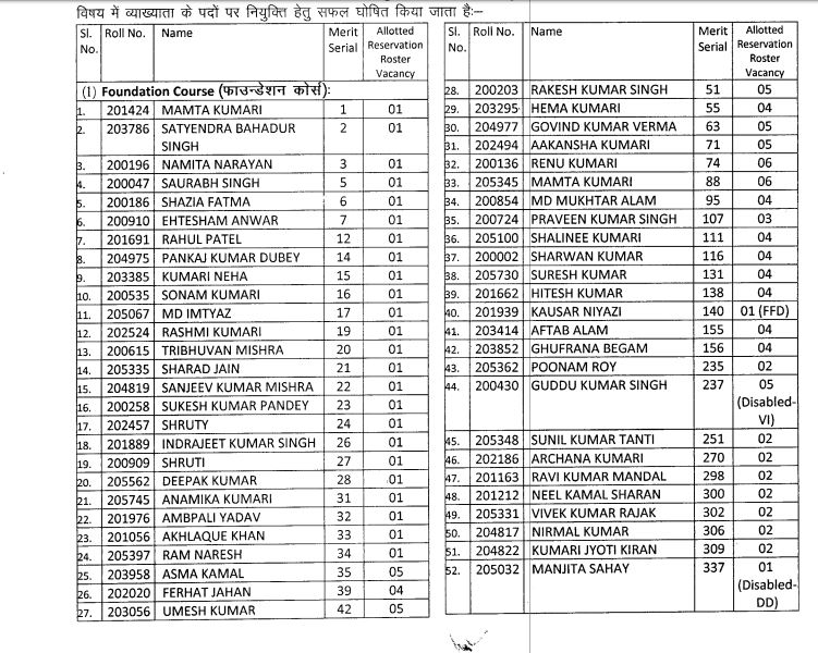 BPSC Lecturer Result 2020 OUT | Download Selected Candidates Name List