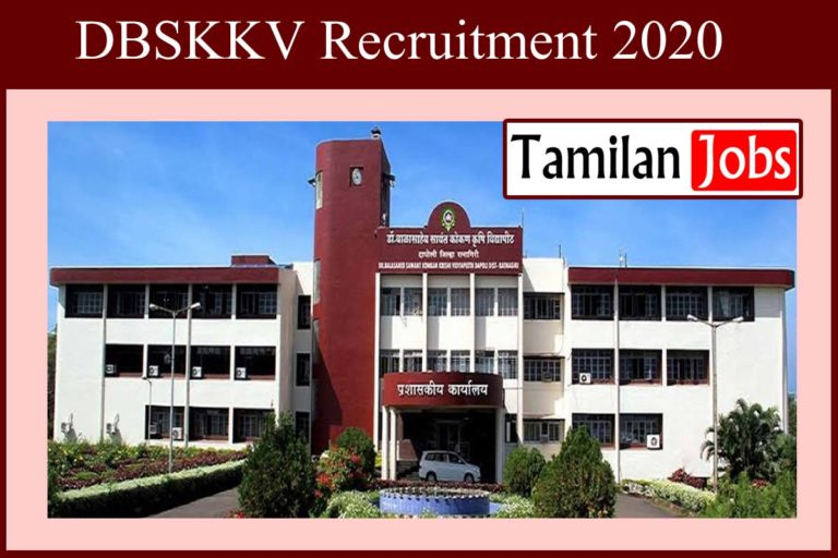 DBSKKV Recruitment 2020 Out – Eligible Candidates Can Apply SRF, TA & Data Manager Jobs