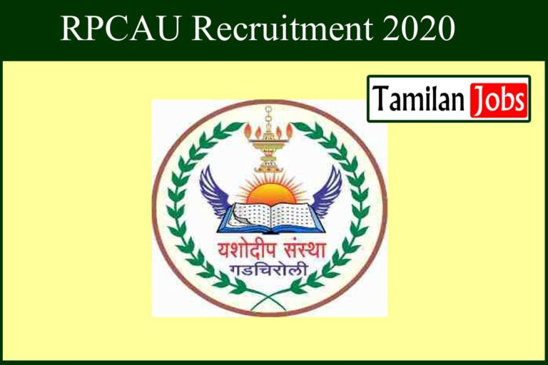 RPCAU Recruitment 2020 Out – Degree Completed Candidates Can Apply For 143 Assistant Jobs
