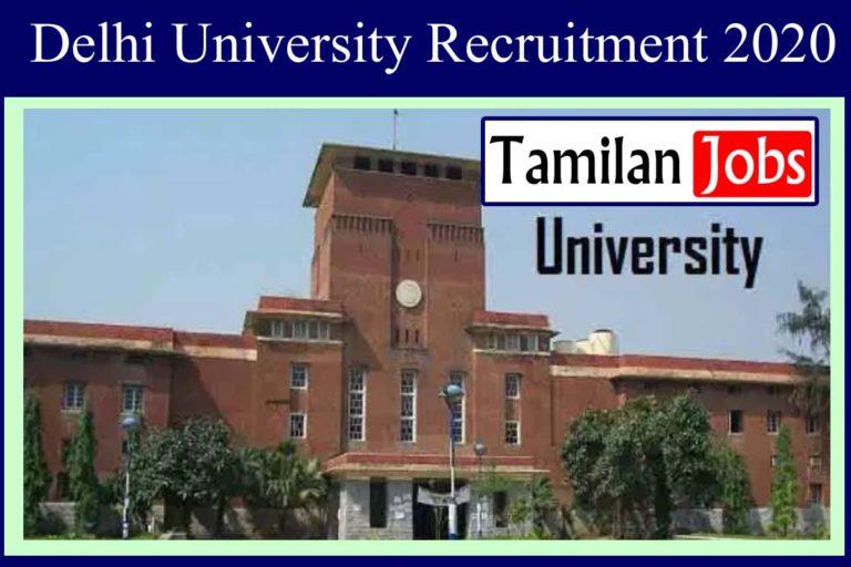 Delhi University Recruitment 2020 Out – Apply 120 Assistant Professor Jobs