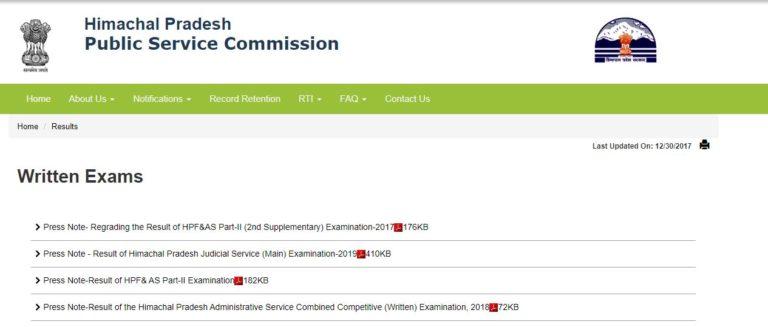 HPPSC Lecturer Result 2020 | Himachal Pradesh PSC Merit List