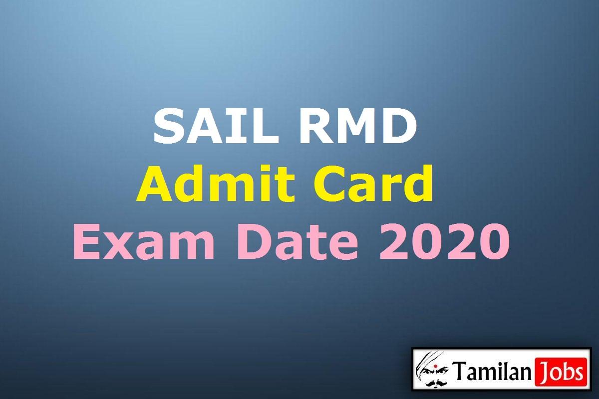 SAIL RMD Admit Card 2020