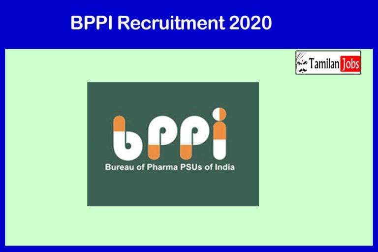 BPPI Recruitment 2020 Out – Apply Various Marketing Officer Jobs