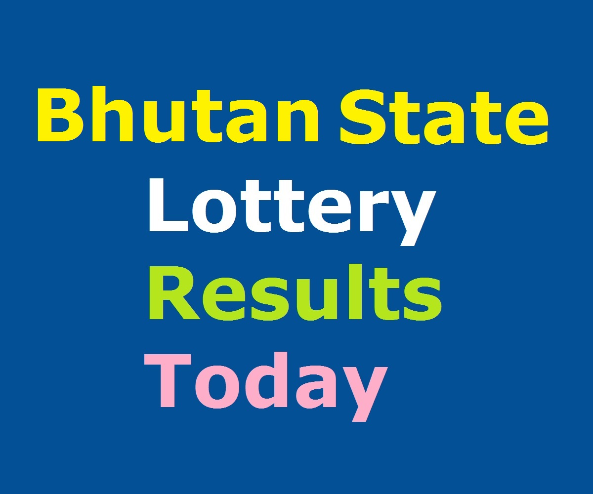 Bhutan State Lottery Result Today