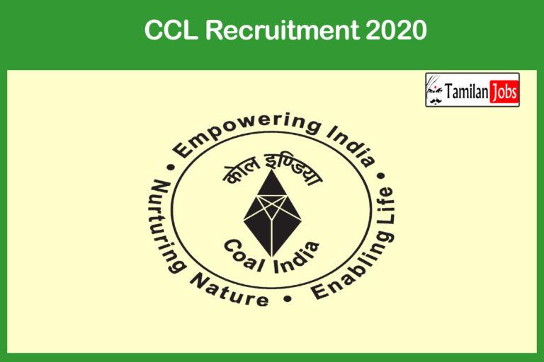 CCL Recruitment 2020 Out – Apply 23 Overseer Jobs