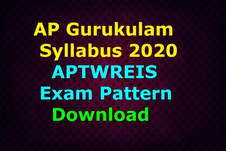 AP Gurukulam Syllabus 2020 PDF | APTWREIS Exam Pattern Download