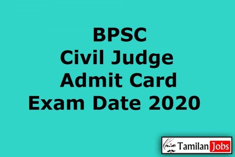 BPSC Civil Judge Admit Card 2020 (OUT), 31st Bihar Judicial Services Prelims Exam Date