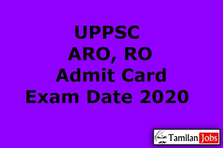 UPPSC ARO Admit Card 2020 (Out) | Review Officer Prelims Revised Exam Date