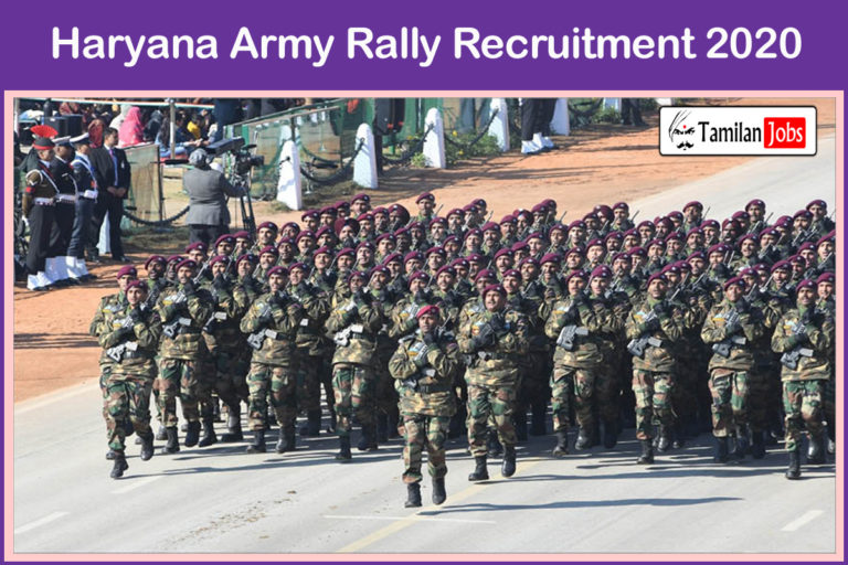 Haryana Army Rally Recruitment 2020 Out – Apply Soldier Tradesman Jobs