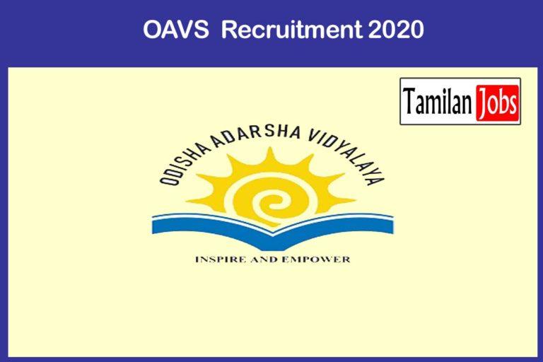 OAVS  Recruitment 2020 Out – Apply 737 Principals,Teacher Jobs