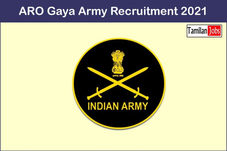 ARO Gaya Army Recruitment 2021 Out – Apply Store Keeper Technical  Jobs
