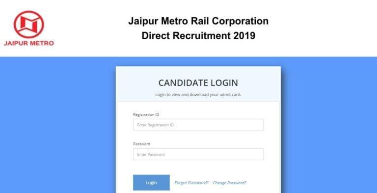 JMRC Maintainer, Junior Engineer Admit Card 2021 (OUT), Exam Date @ jaipurmetrorail.in