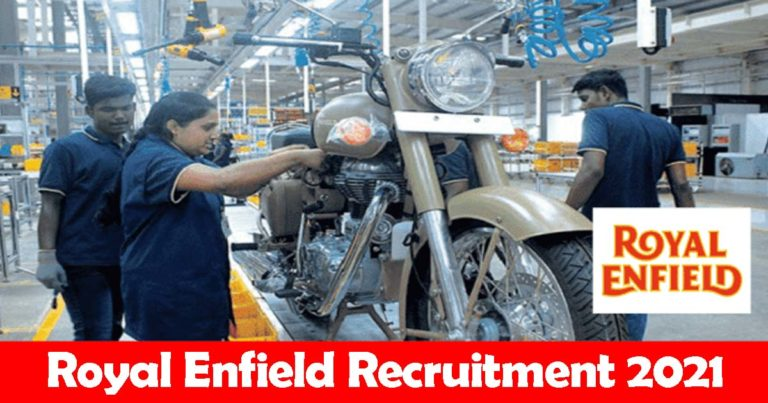 Royal Enfield Recruitment 2021 – Apply Online Fresher Job Openings