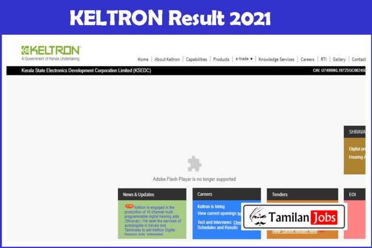 KELTRON Result 2021 PDF |  Check Cut Off Marks, Merit List at www.keltron.org