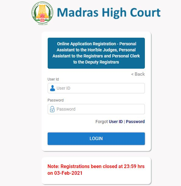 Madras High Court Personal Assistant Hall Ticket 2021 (Out) @ mhc.tn.gov.in, Exam Date