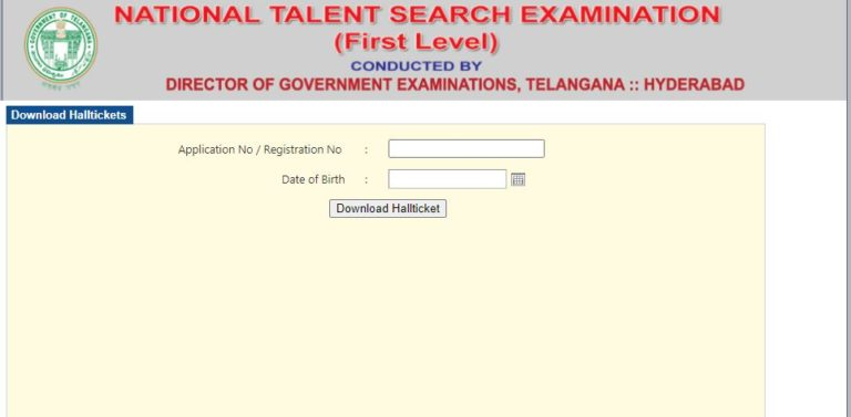 Telangana NTSE Hall Ticket 2021 (Out) @ bse.telangana.gov.in, TS Level Stage I NTSE Exam Date