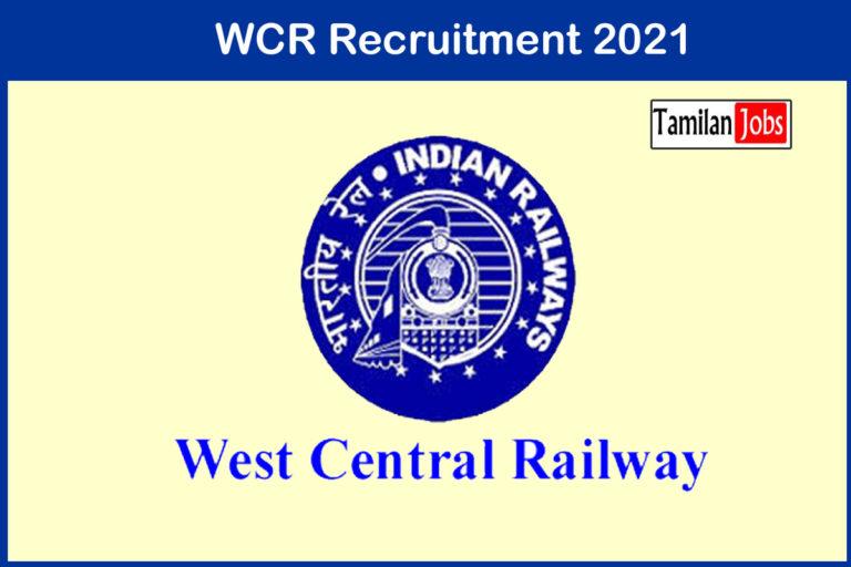 WCR Recruitment 2021 Out – Apply 13 Teacher Jobs