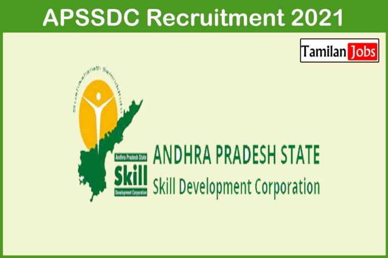 APSSDC Recruitment 2021 Out – Apply For 175 Junior Chemist, Trainee Jobs