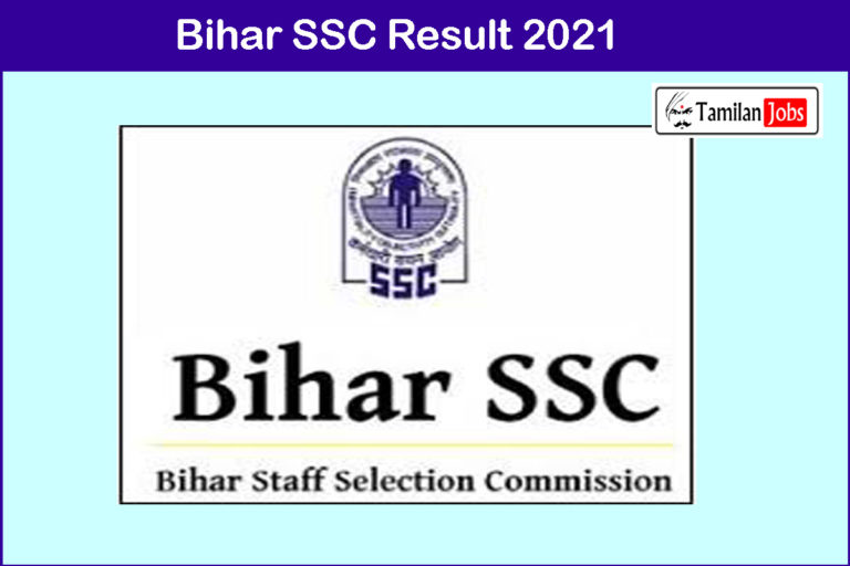Bihar Rajbhasha Sahayak Result 2021 | Cut Off, Merit List @ bssc.bih.nic.in