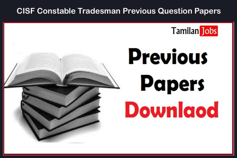 Central Industrial Security Force Previous Question Papers @cisf.gov.in