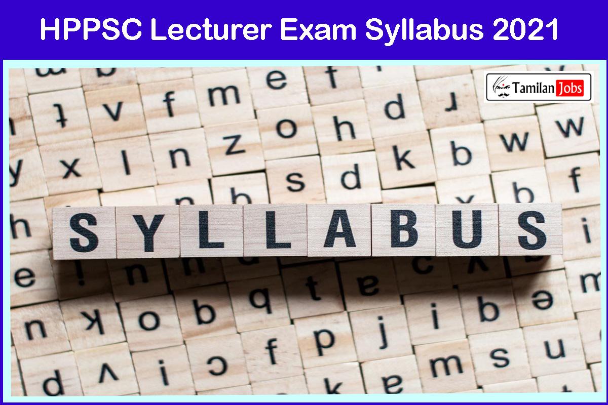 HPPSC Lecturer Exam Syllabus 2021