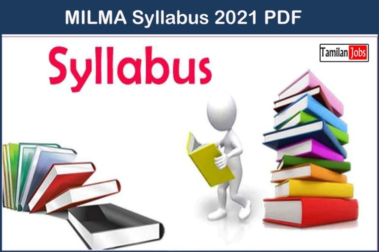 MILMA Syllabus 2021 PDF | Exam Pattern PDF Download @milma.com