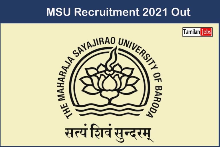 MSU Recruitment 2021 Out – Apply 29 Technical Assistant, Data Entry Operator Jobs