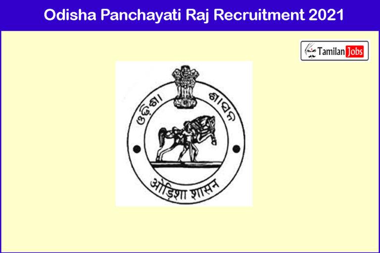 Odisha Panchayati Raj Recruitment 2021 Out – Apply 24 Programme officer Jobs