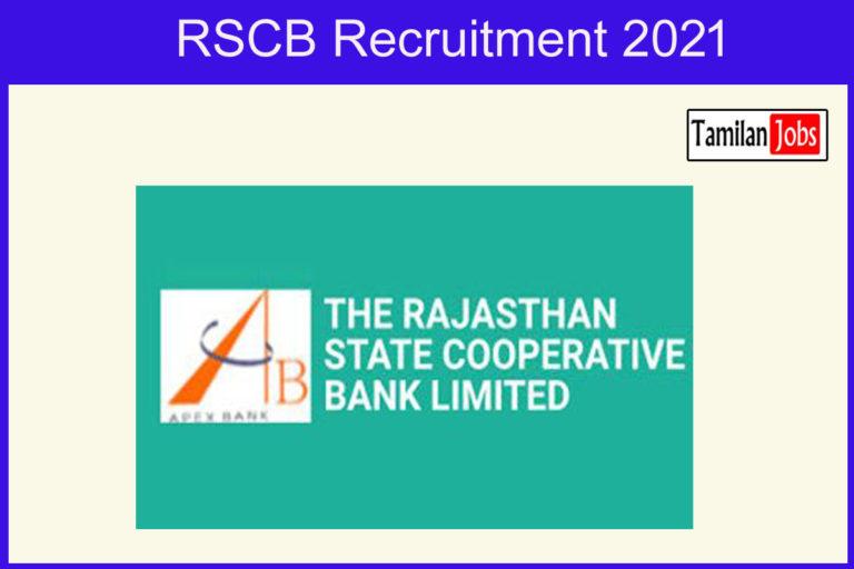 RSCB Recruitment 2021 – Apply 385 Junior Assistant, Clerk Jobs