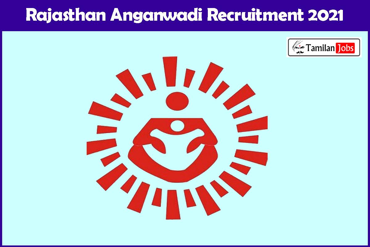 Rajasthan Anganwadi Recruitment 2021