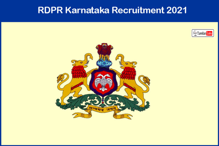 RDPR Karnataka Recruitment 2021 Out – Apply Online 154 Consultant Jobs