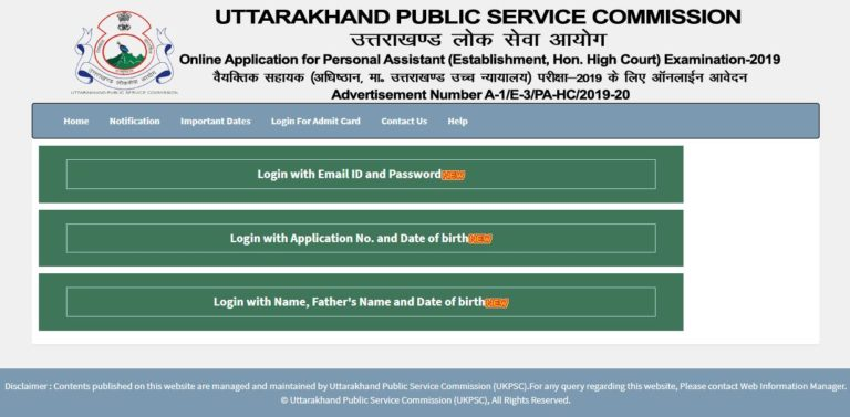 UKPSC Personal Assistant Admit Card 2021 (Out), PA Mains Exam Date @ ukpsc.gov.in